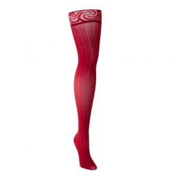 Red thigh compression sock