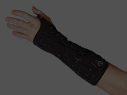 Man's arm wearing a cast