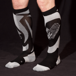 EC3D compression socks in black and white