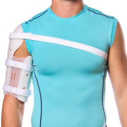 Man with arm splint