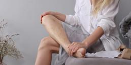 Varicose vein woman